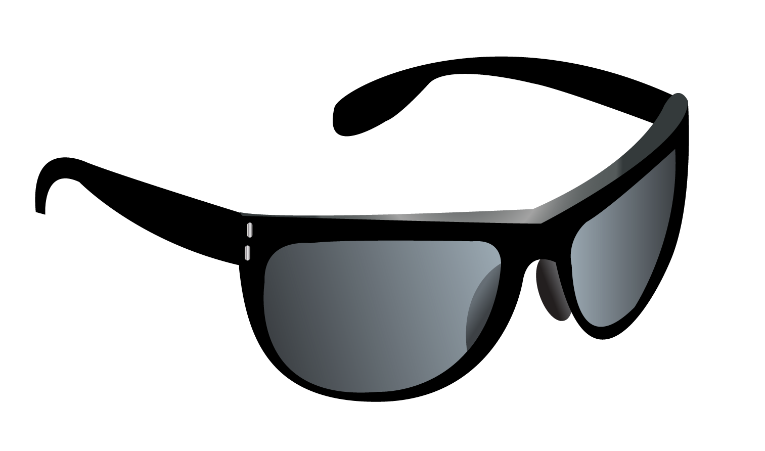 Cat eye sunglasses clipart svg library download Ray Ban Clubmaster Black Sunglasses Black And White Clipart ... svg library download