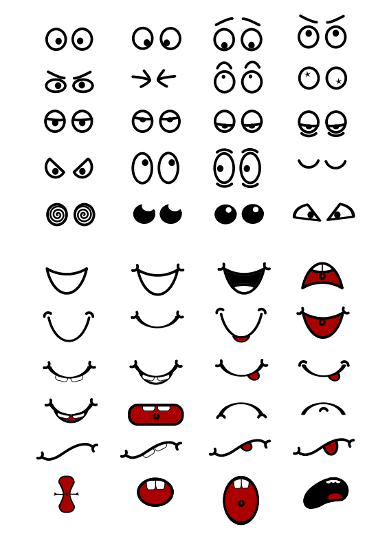 Cat eyes and nose clipart jpg freeuse library Free Clipart: Cartoon Mouth n Eyes | Objects … | CRAFTS...CLAY POTS ... jpg freeuse library
