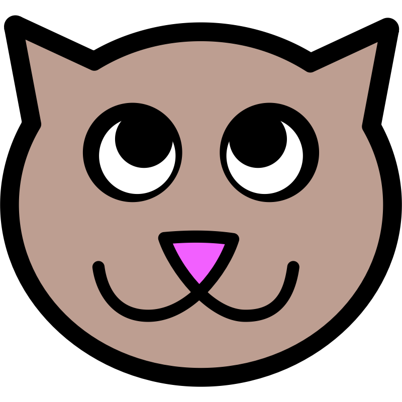 Cat face clipart transparent svg free library Clipart - Cute Cat 2 - Clip Art Library svg free library