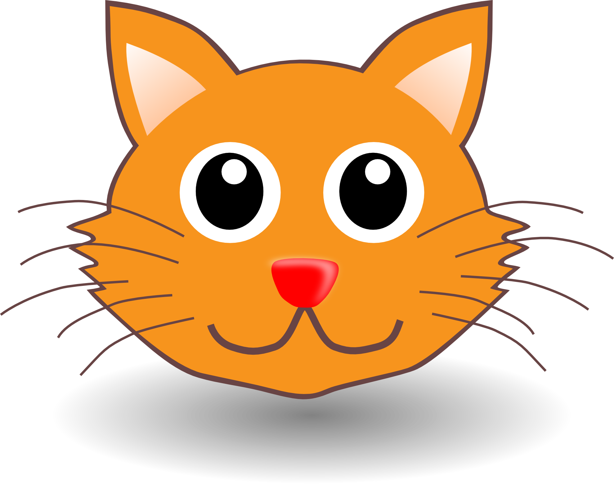 Sad cat face clipart vector transparent stock Free Cartoon Cat Face, Download Free Clip Art, Free Clip Art on ... vector transparent stock