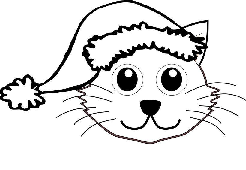Cat in bed clipart black and white jpg download Cat Face Clipart Black And White Free | Bedwalls.co jpg download