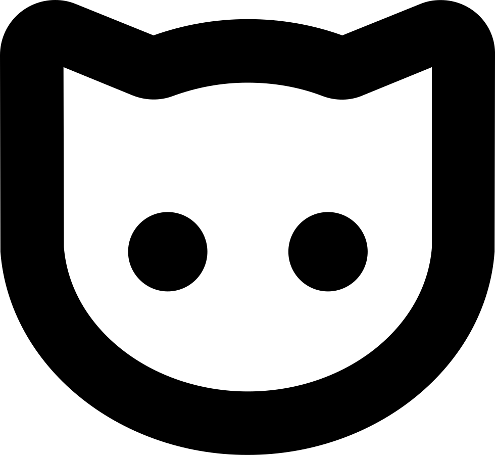 Cat head outline clipart png royalty free download Cat Face Outline Svg Png Icon Free Download (#74447 ... png royalty free download