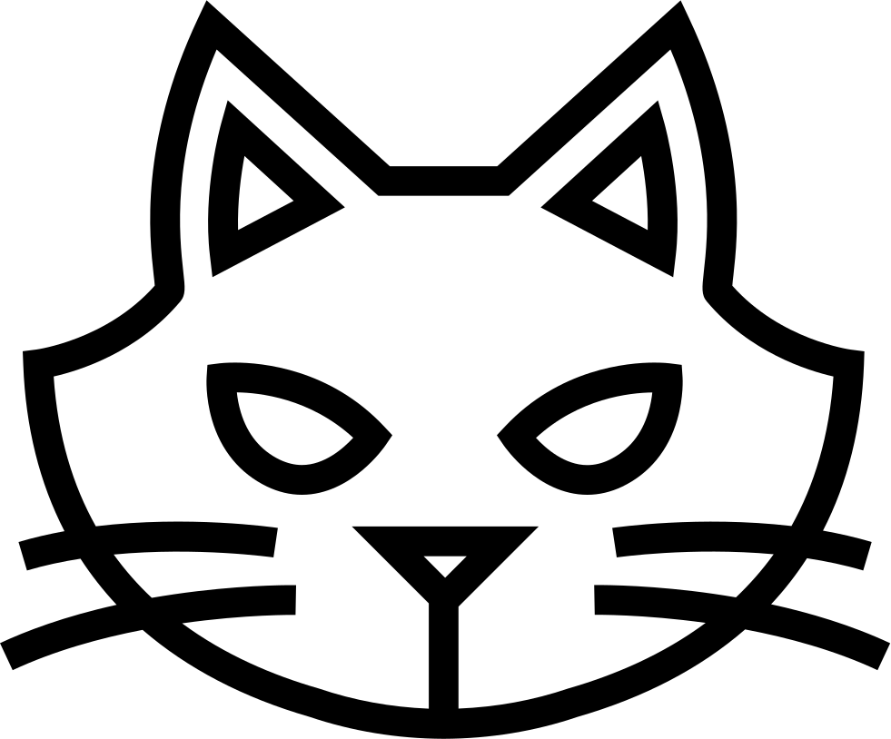 Cat head outline clipart image royalty free library Halloween Cat Face Outline Svg Png Icon Free Download (#74506 ... image royalty free library