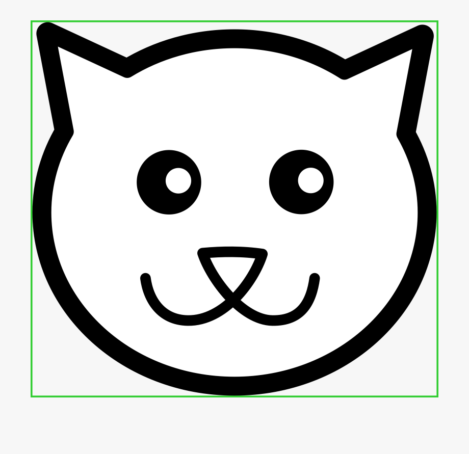 Cat face clipart free picture free Dog Paw Black And White Clipart - Cat Face Drawing Easy #276469 ... picture free