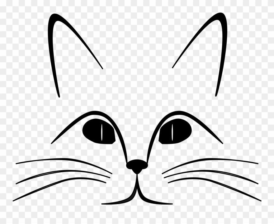 Cat face clipart free jpg stock Cat Black And White Cat Clip Art Black And White Free - Cat Face ... jpg stock