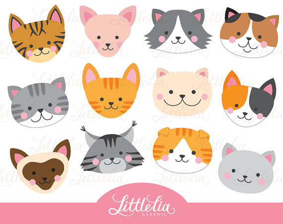 Cat face clipart free vector download Cat head clipart - cat face clipart - 16069 | Products | Clip art ... vector download