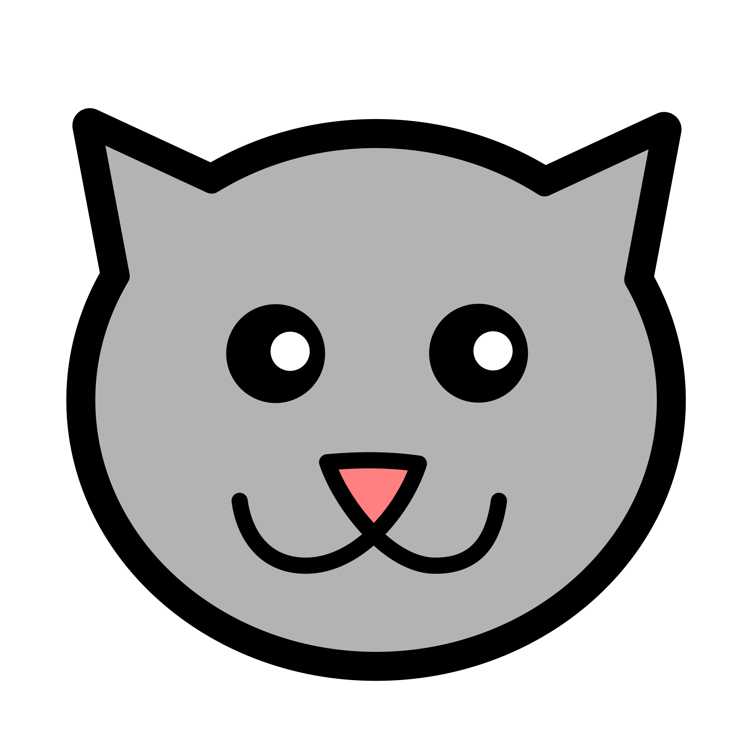 Cat face png clipart graphic library library Clipart - Kitty icon graphic library library