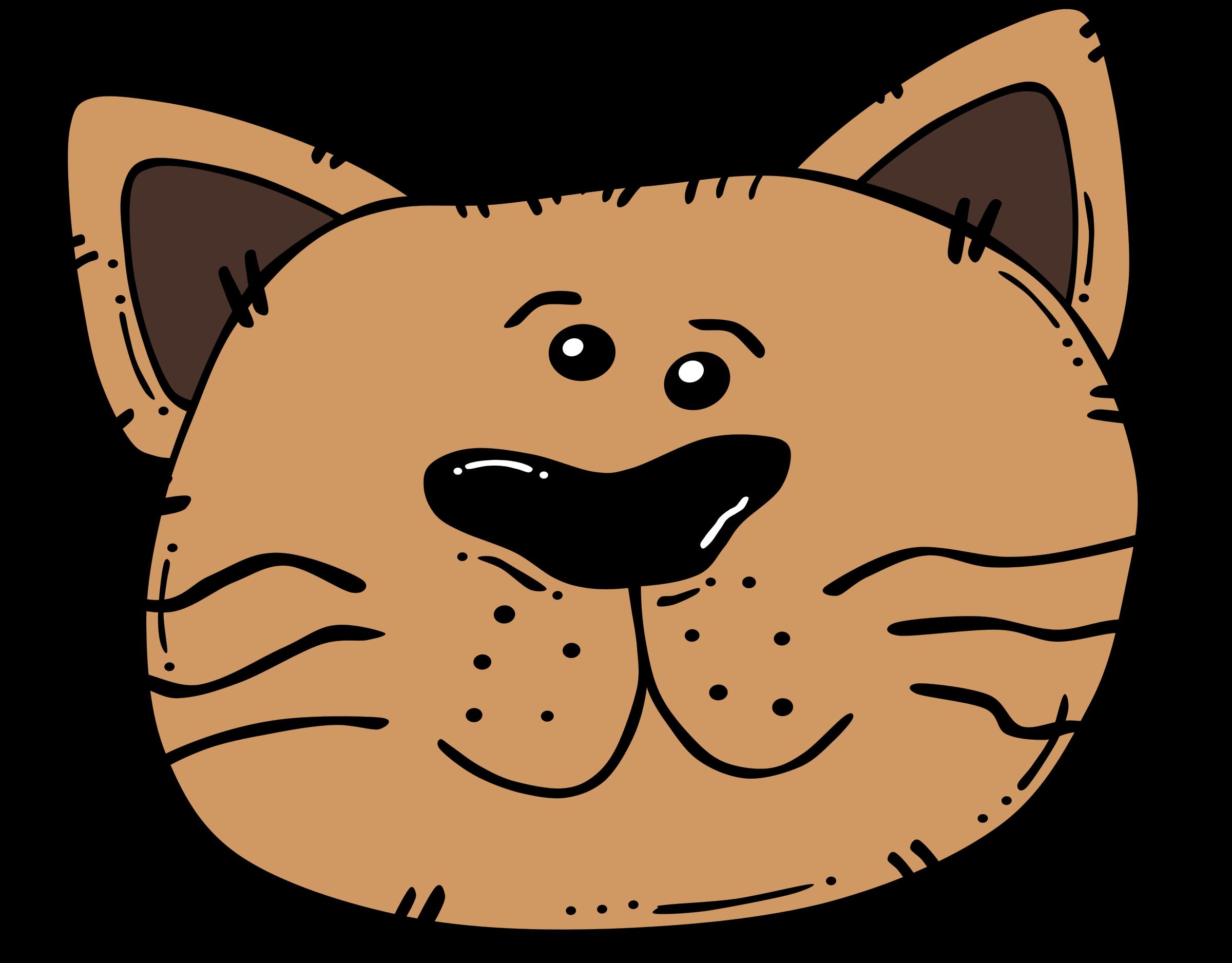 Orange cat face clipart jpg black and white library Clipart Cat Face - Free Clip Art - Clipart Bay jpg black and white library