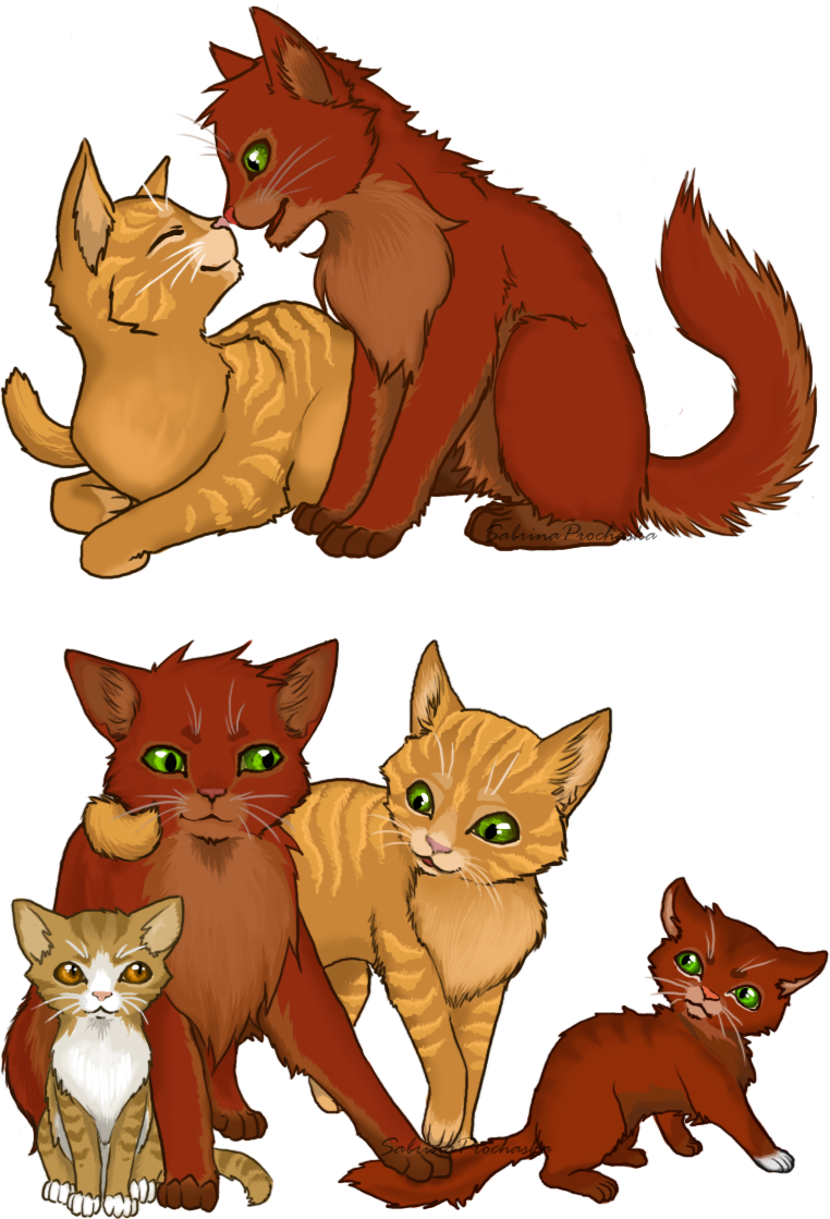 Cat family clipart image library library Warrior cats couples clipart image library library