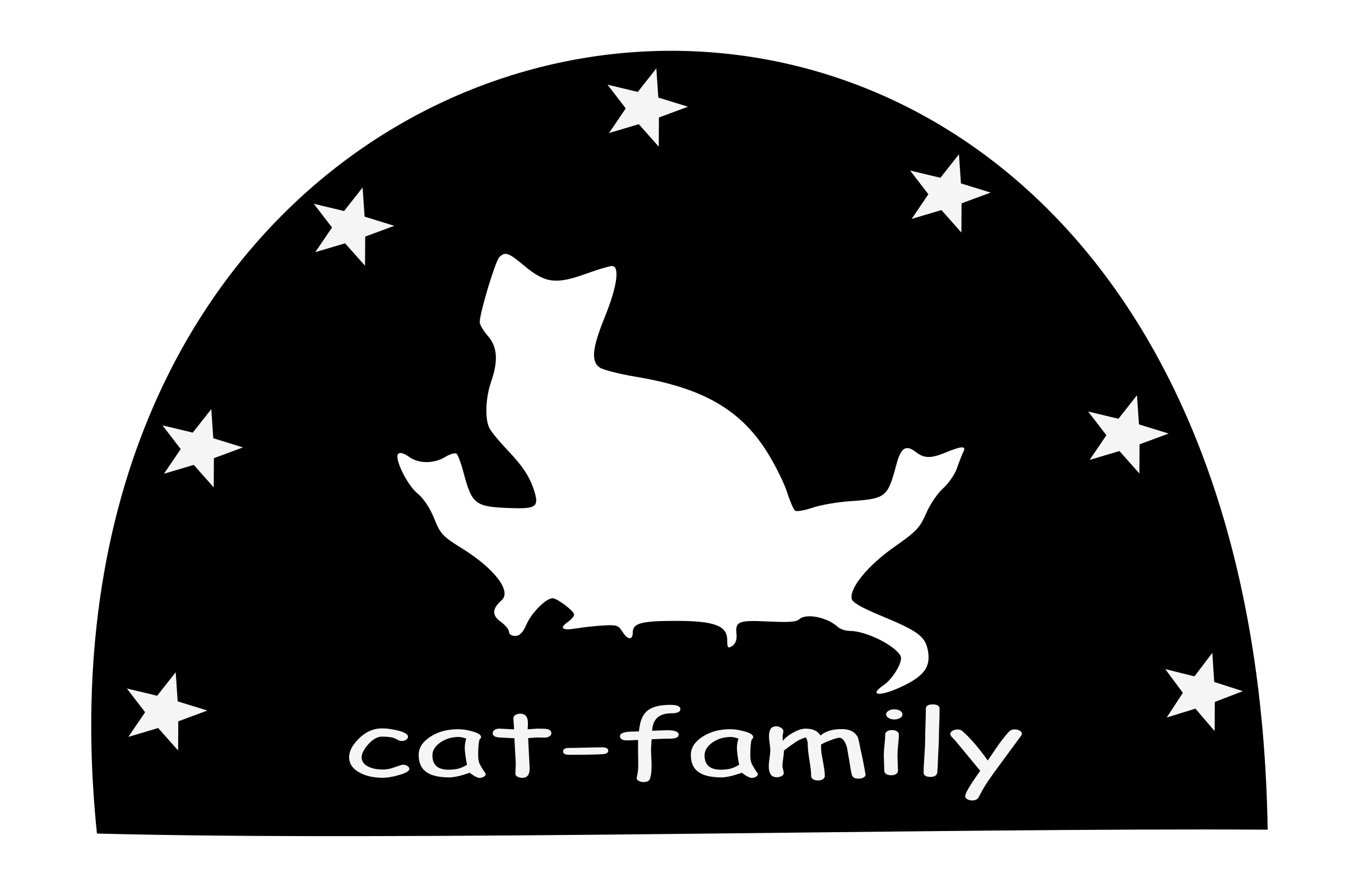 Cat family clipart free download Clipart - Cat-family-silhouette free download