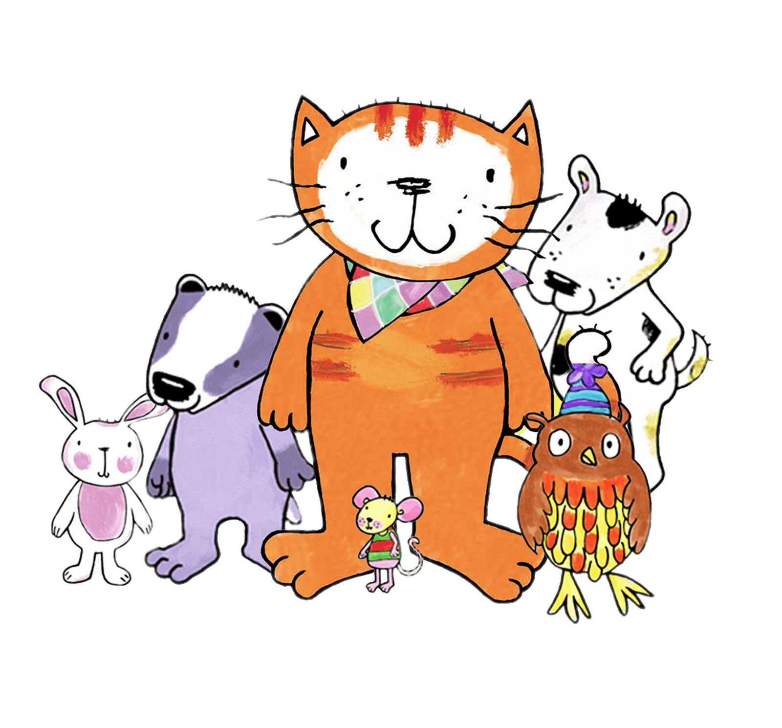 Cat family clipart image free library Poppy Cat and Friends transparent PNG - StickPNG image free library