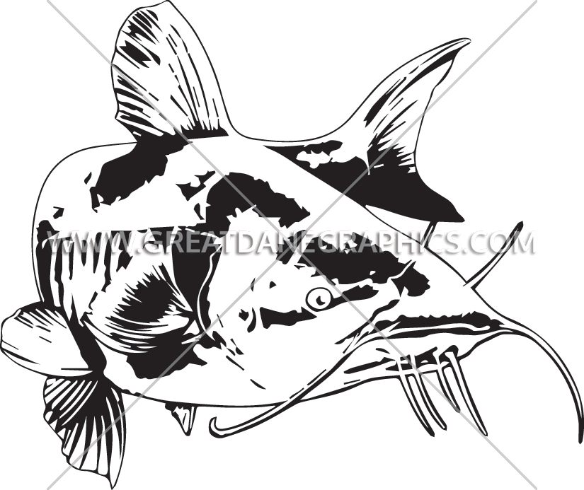 Cat fish clipart black and white clipart download Catfish Swim | Production Ready Artwork for T-Shirt Printing clipart download