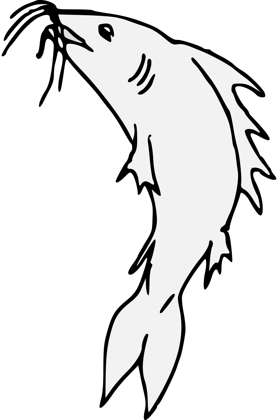 Cat fish clipart black and white clipart royalty free download Catfish Line Drawing at GetDrawings.com | Free for personal use ... clipart royalty free download