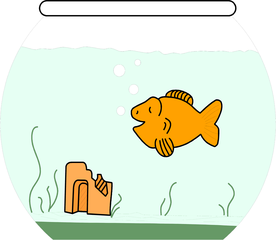 Cat food bowl clipart banner library download Goldfish | Free Stock Photo | Illustration of a cartoon goldfish in ... banner library download