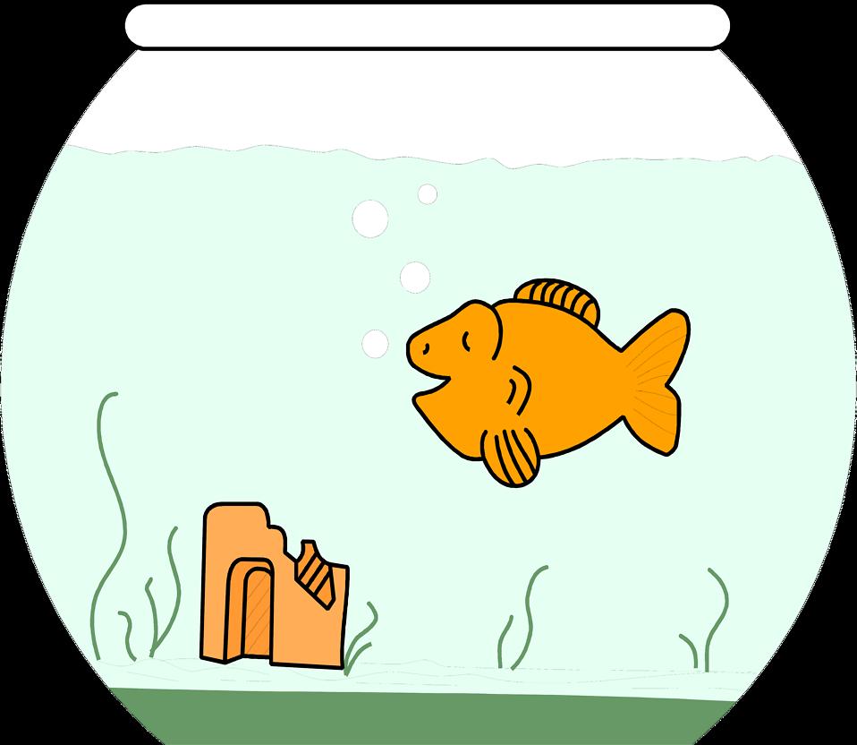Fish bowl transparent clipart vector freeuse download Goldfish | Free Stock Photo | Illustration of a cartoon goldfish in ... vector freeuse download