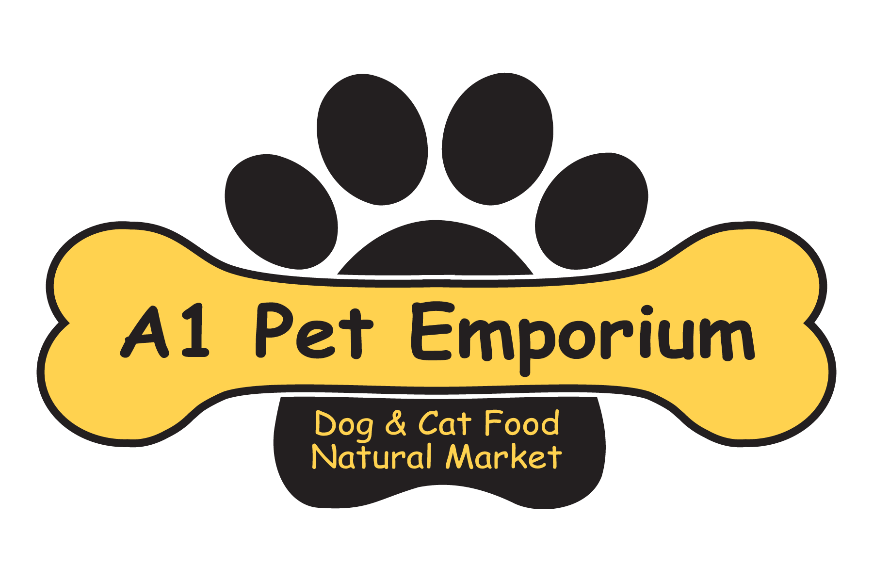 Clipart cat food banner black and white library About Us | A1 Pet Emporium banner black and white library