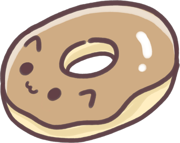 Clipart cat food freeuse kawaii cute donut cat food - Sticker by Kloma~ freeuse