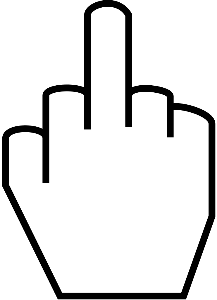 Cat giving the finger clipart png transparent library File:The middle finger.svg - Wikimedia Commons png transparent library