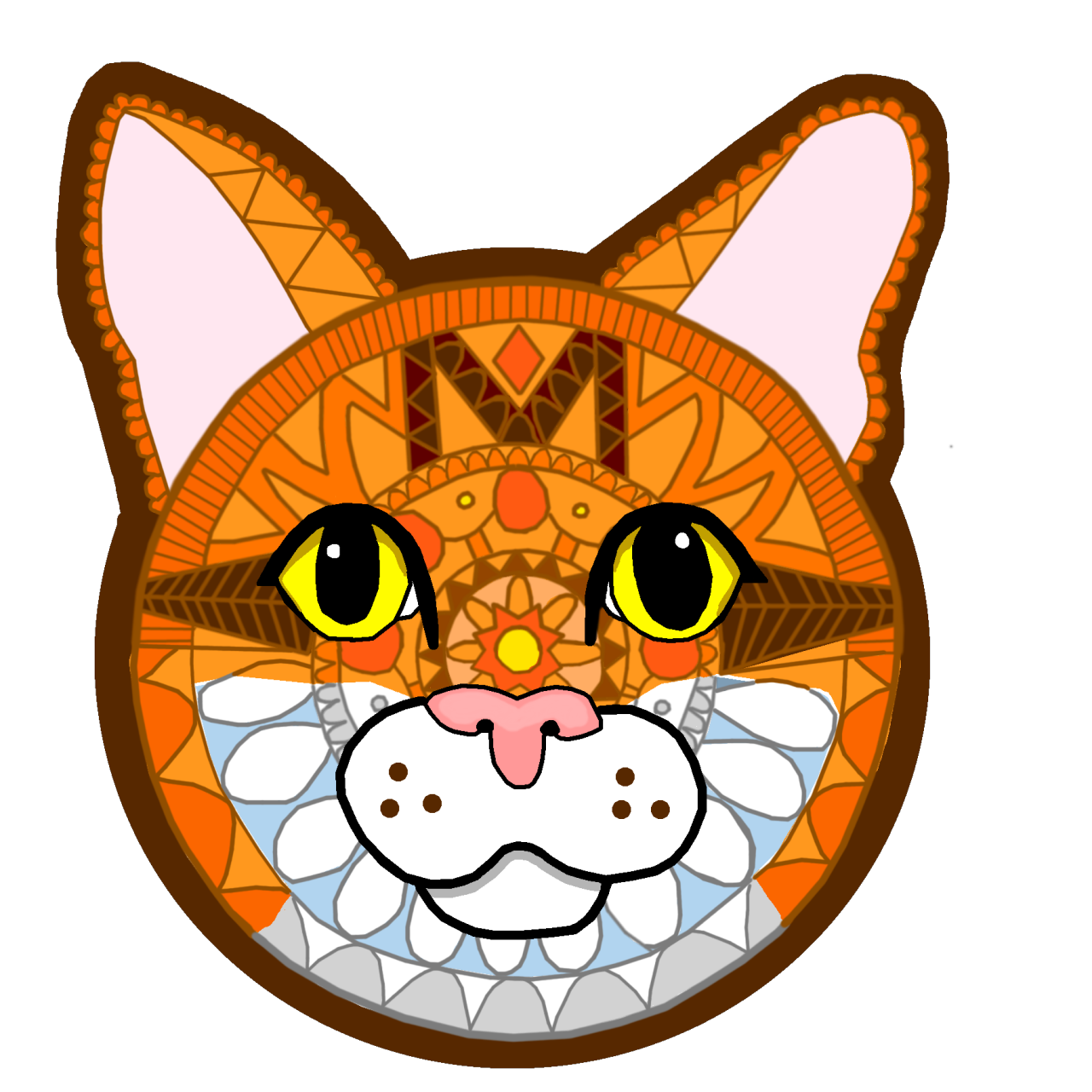 Cat giving the finger clipart png free download DelverStudios png free download