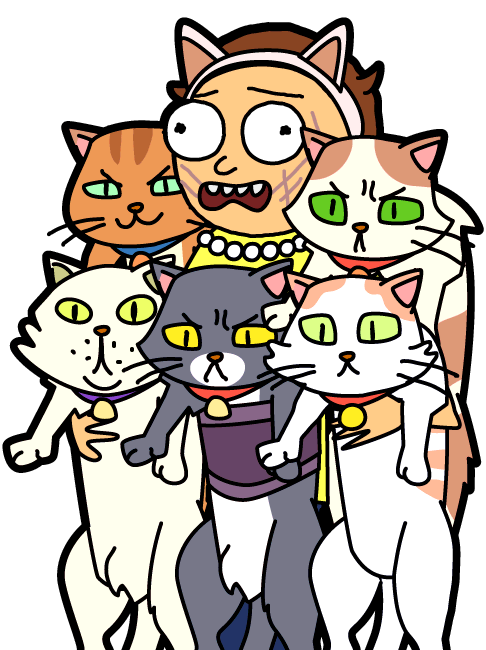 Cat playing with ball clipart svg library 53 - Crazy Cat Morty - PocketMortys.net svg library