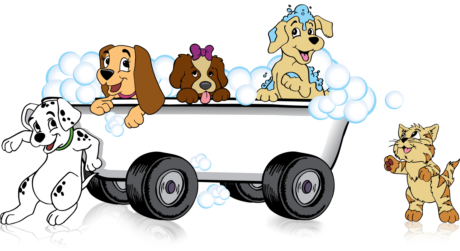 Cat grooming clipart vector library Christine's Mobile Pet Salon   Let the Groomer Come to You! vector library