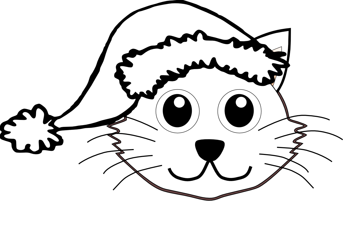 Cat with hat clipart jpg free stock Cat In The Hat Face Coloring Pages at GetColorings.com | Free ... jpg free stock