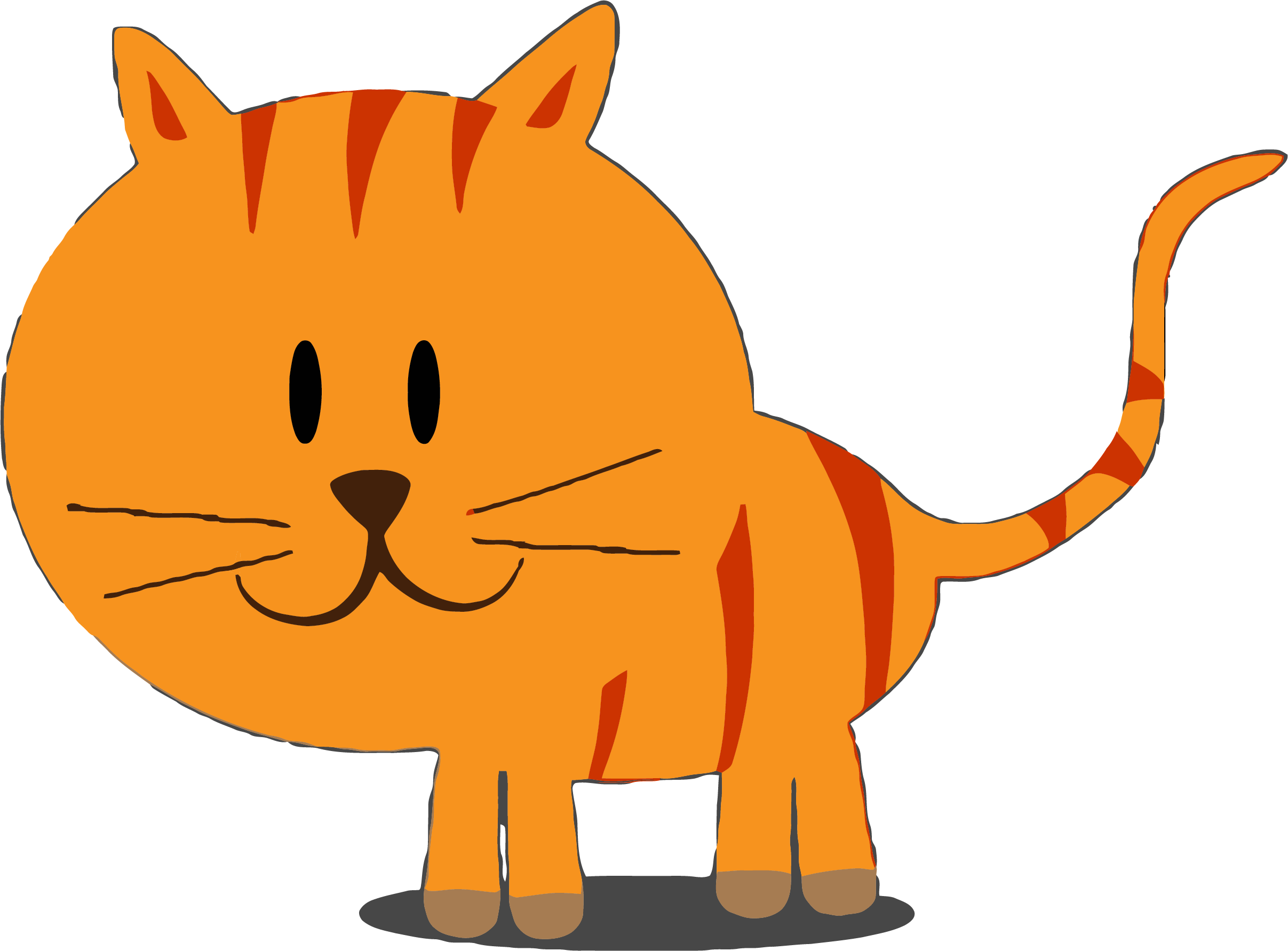 Cat hd clipart svg free download HD Happy Kitty Cat Clipart Png - Cat Clipart Orange Cat Png , Free ... svg free download