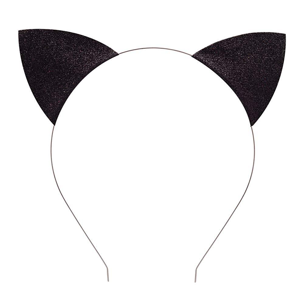 Cat headbands clipart vector transparent stock Elesa Miracle Kids Girl Women Glitter Cat Ear Headband Value Set Cat Ear  Hair Hoops Makeup Party Favor vector transparent stock