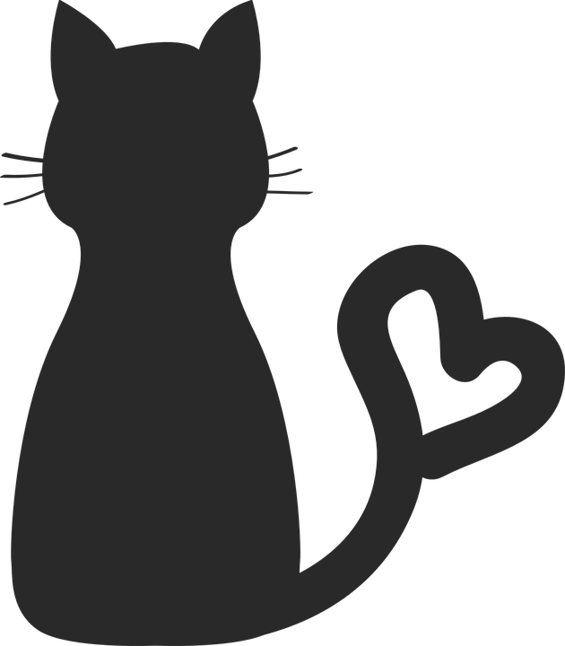 Cat with collar clipart jpg library download Kostenloses Bild auf Pixabay - Charaktere, Katze, Silhouette, Tier ... jpg library download