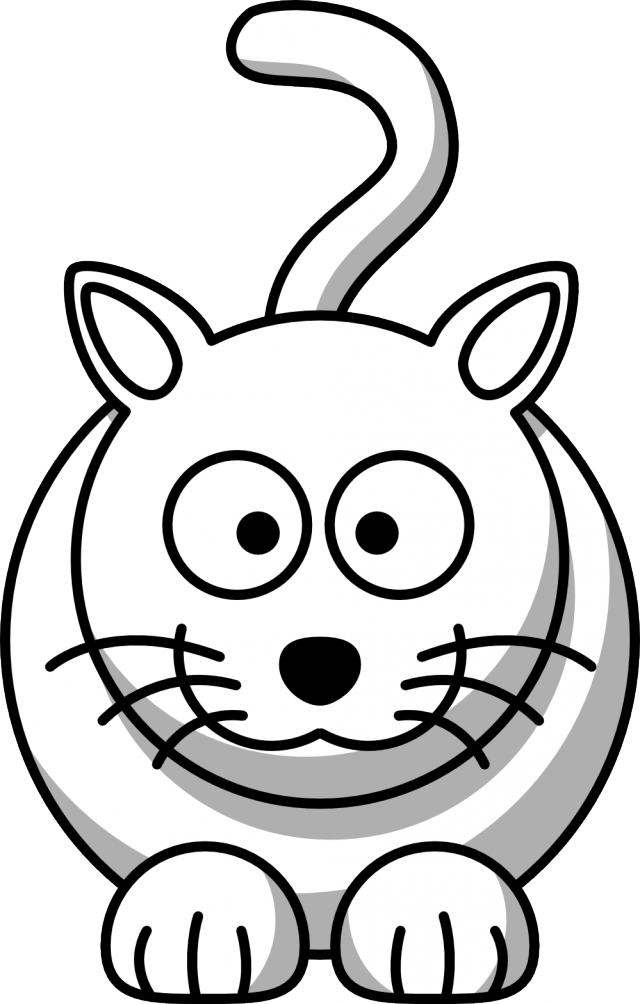 Halloween cat clipart black and white png free Cat Cartoon Black And White Collection (57+) png free
