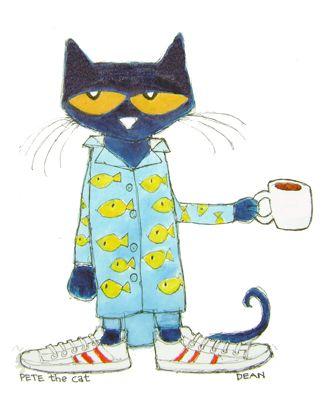 Cat in pajamas clipart