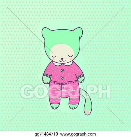 Vector Clipart - Cute cat clothing. Vector Illustration gg71484719 ... clip black and white download