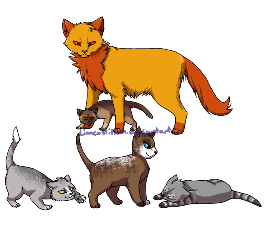 Cat on books clipart clipart free Adopted Warrior Cats by Drekalder on DeviantArt clipart free