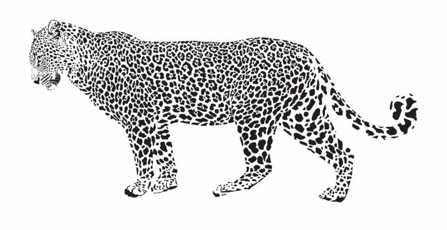 Cat in snow clipart black and white svg transparent stock Clip Library Library Snow Cheetah Clip Art Jaguar Silhouette ... svg transparent stock