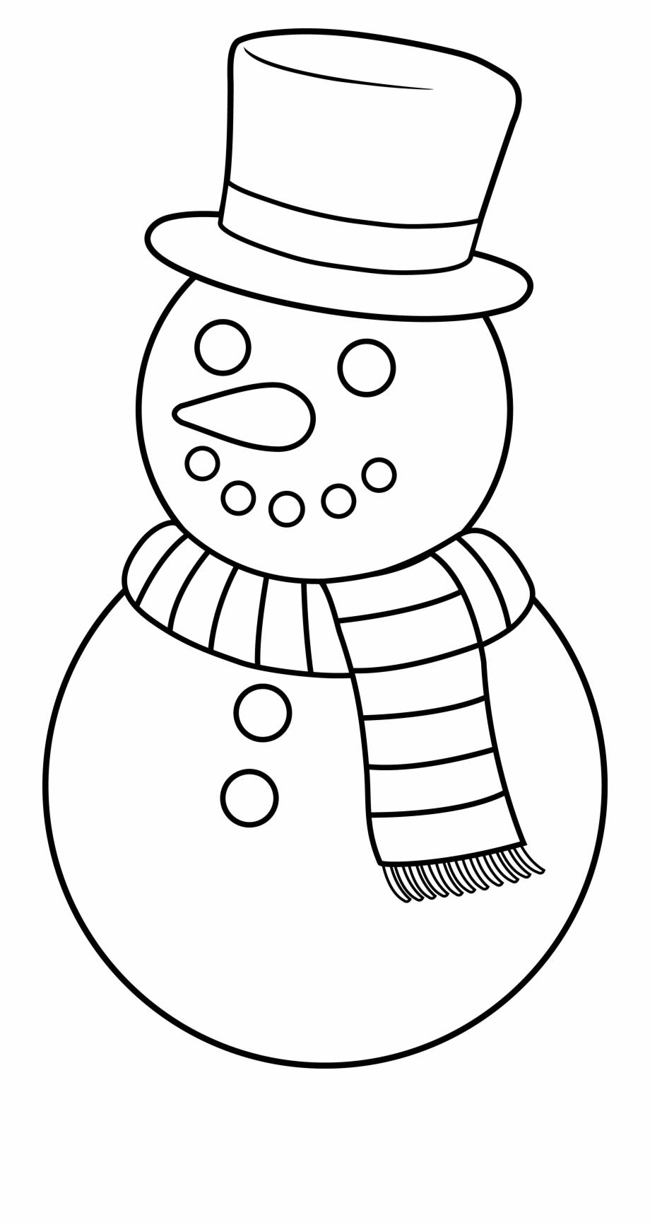 Cat in snow clipart black and white clipart royalty free download Snowman Clipart Outline - Snow Man Clip Art Black And White Free PNG ... clipart royalty free download