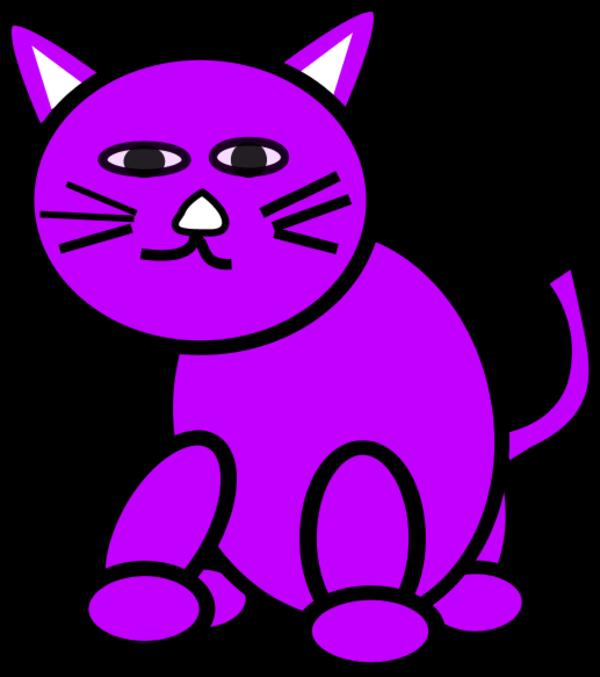 Imaginary purple cat clipart jpg library library Purple Cat Clipart jpg library library