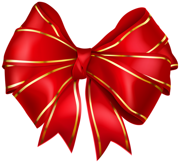 Gold christmas bow clipart banner free library Red Bow with Gold Edging Transparent PNG Image | Ilustrações - Laços ... banner free library