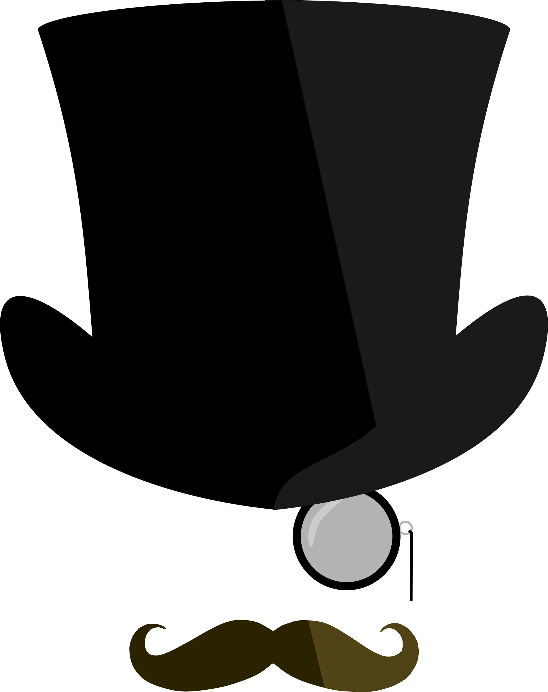 Cat in the hat bowtie clipart graphic transparent download Top hat, moustache, monocle by @Bonzo, Just part of a little project ... graphic transparent download