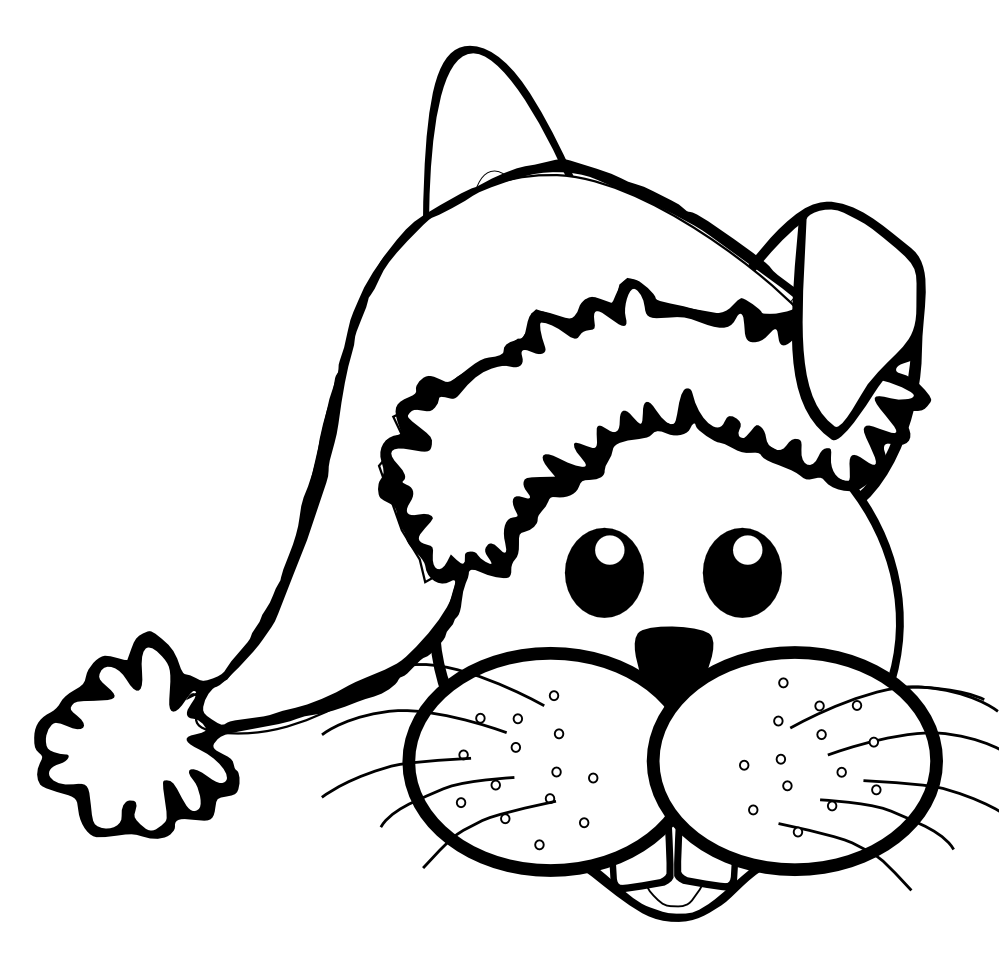 Cat in the hat clipart black and white jpg library library Drawn Santa Hat black and white - Free Clipart on Dumielauxepices.net jpg library library