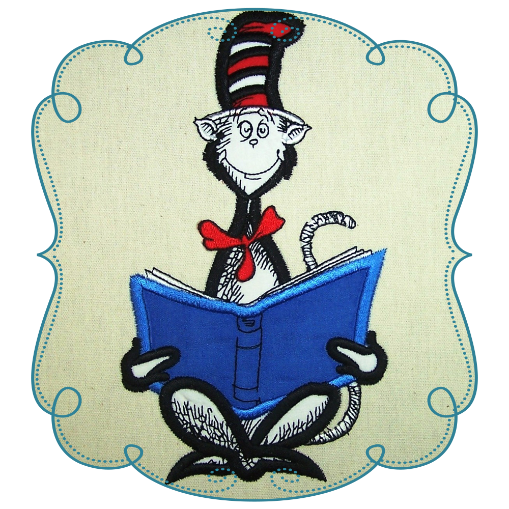 Cat in the hat reading clipart jpg transparent download Cat In The Hat Book Clip Art - Alternative Clipart Design • jpg transparent download