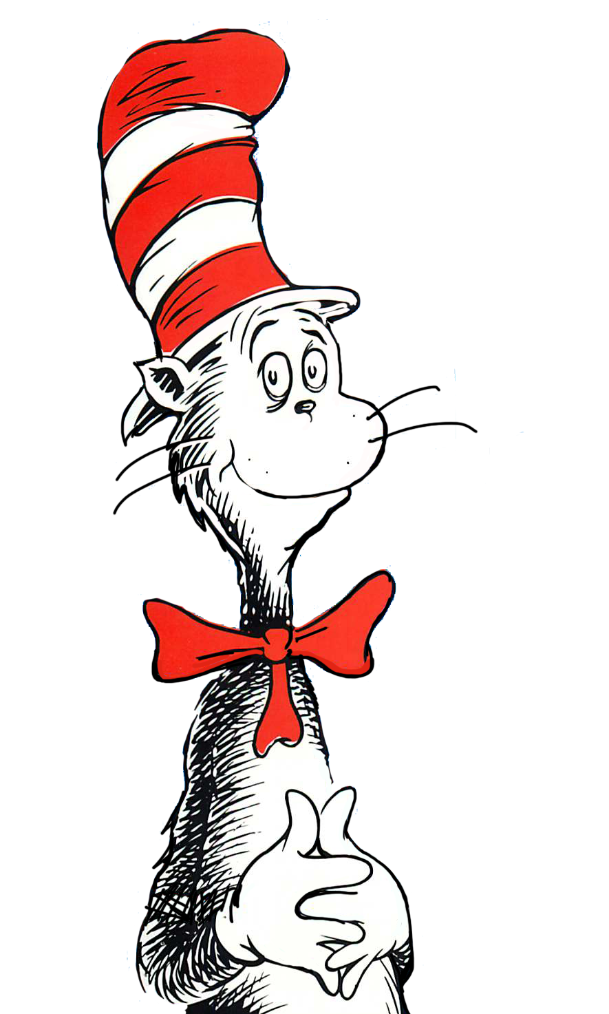 Cat in the hat clipart line drawing banner black and white download Cat And The Hat Drawing | Free download best Cat And The Hat Drawing ... banner black and white download