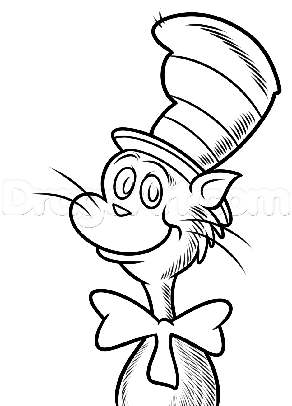 Cat in the hat clipart line drawing graphic stock Hat Line Drawing at PaintingValley.com | Explore collection of Hat ... graphic stock