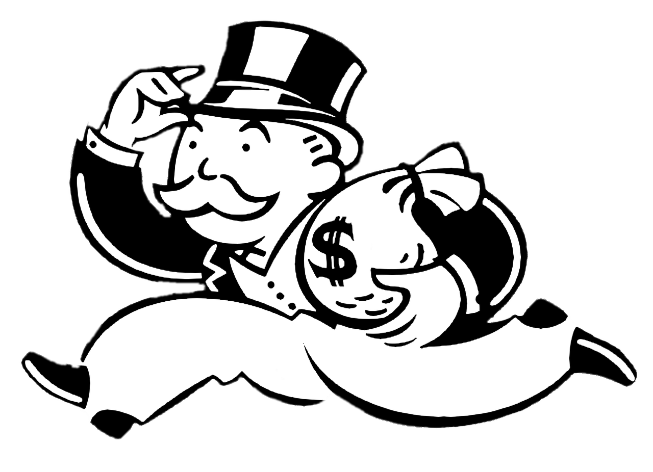 Monopoly money clipart vector black and white stock Monopoly transparent PNG images - StickPNG vector black and white stock