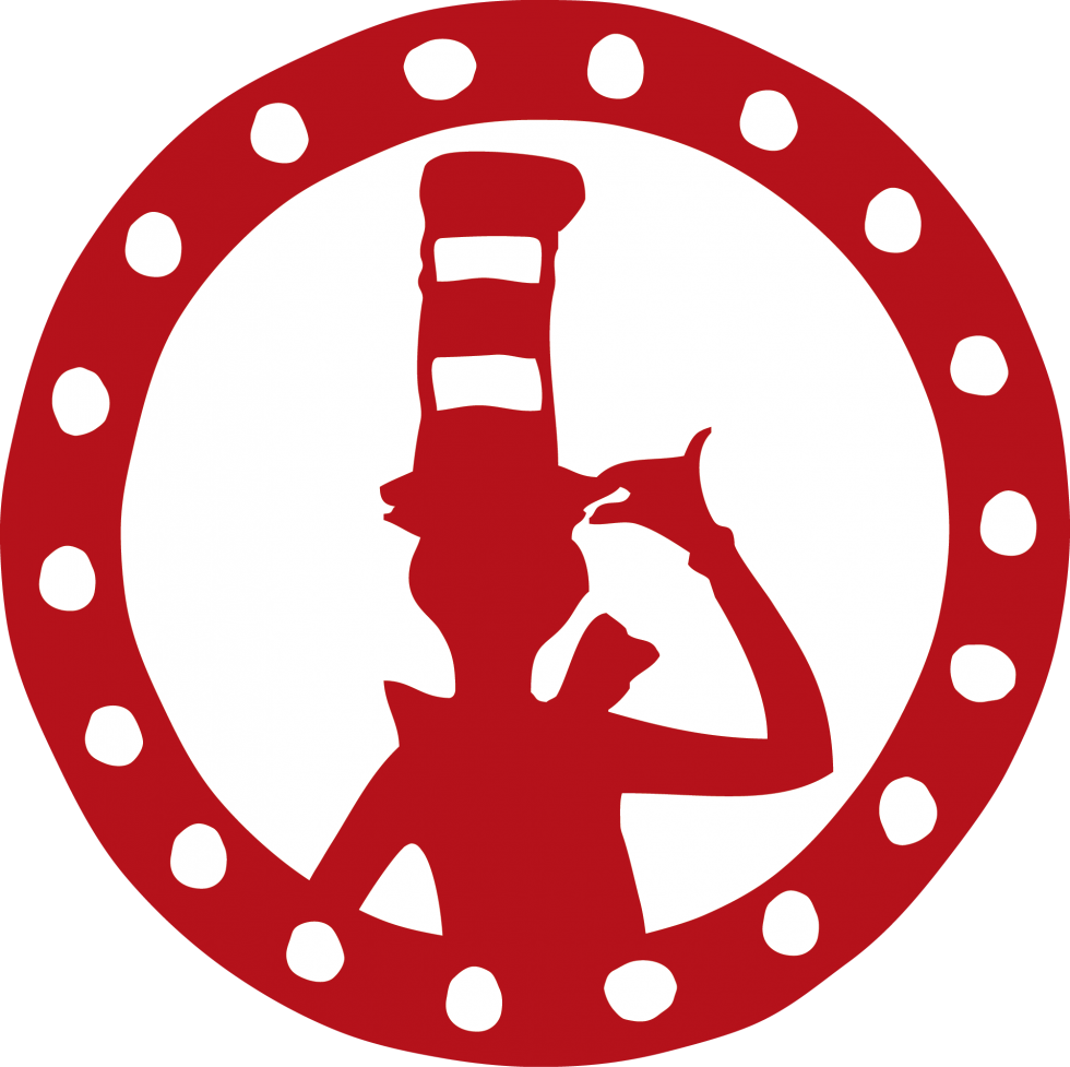 Cat in the hat with books clipart clipart black and white download Dr. Seuss Museum   Museums and City clipart black and white download