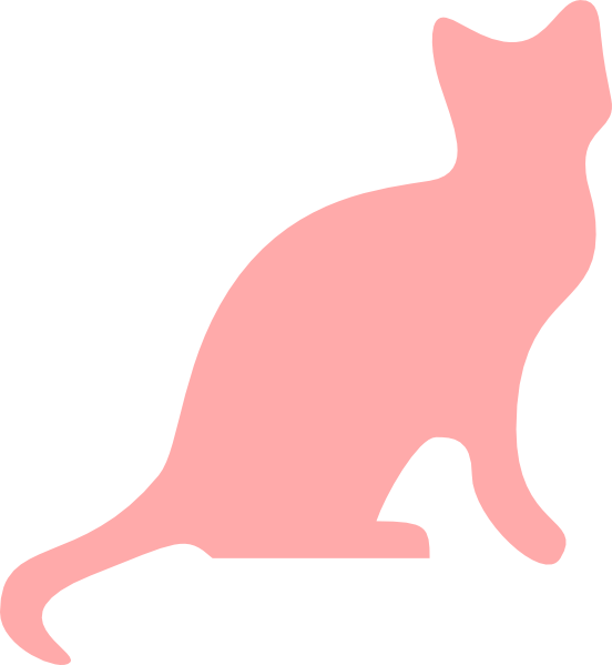 Cat jumping clipart png transparent download Pink Cat Silhouette Clip Art at Clker.com - vector clip art online ... png transparent download