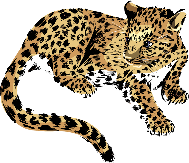 Cat laying down clipart clip art transparent download Free Jaguar Clipart clip art transparent download