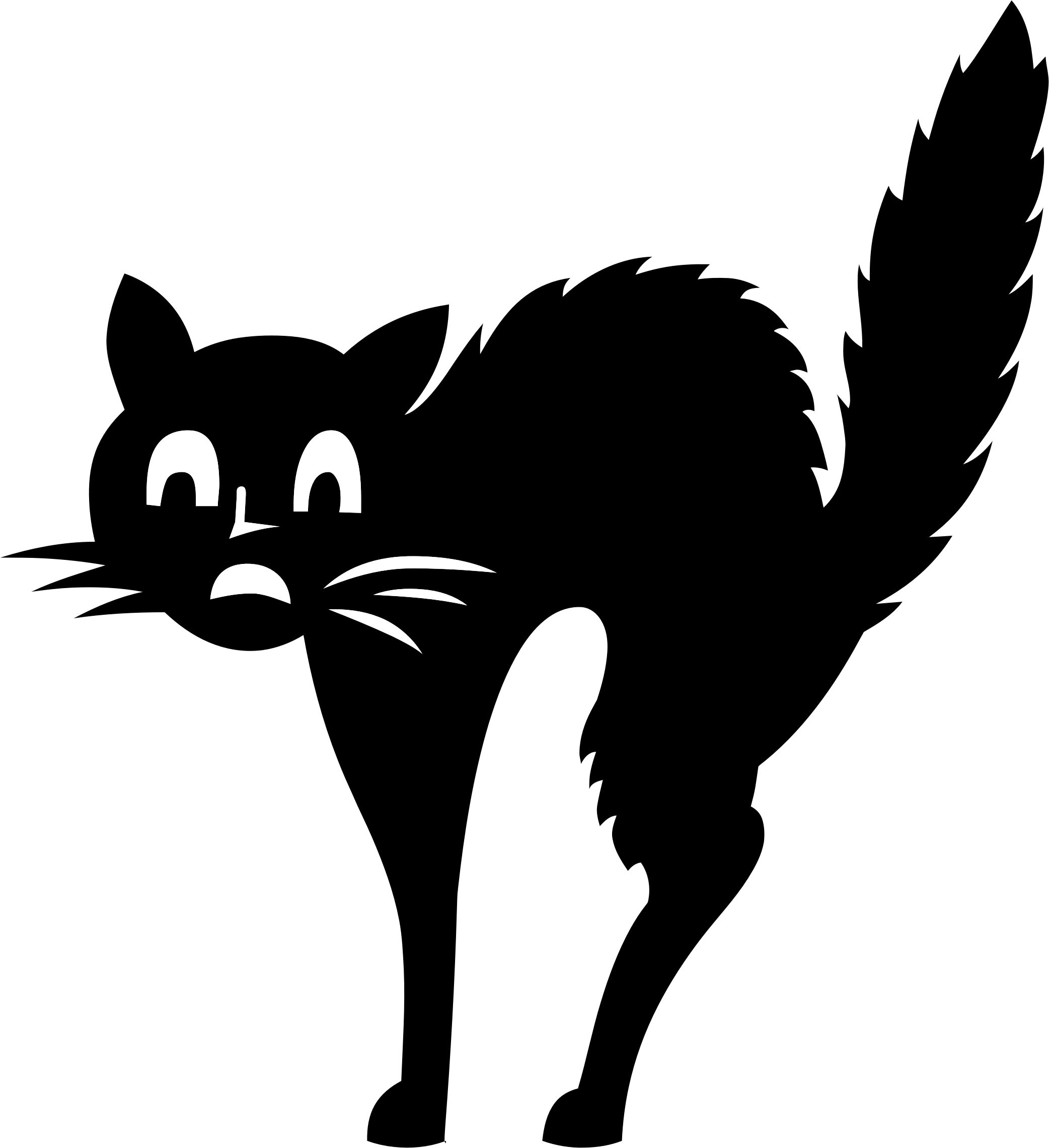 Snowshoe cat clipart image black and white Fraidy Cat Silhouette Icons PNG - Free PNG and Icons Downloads image black and white