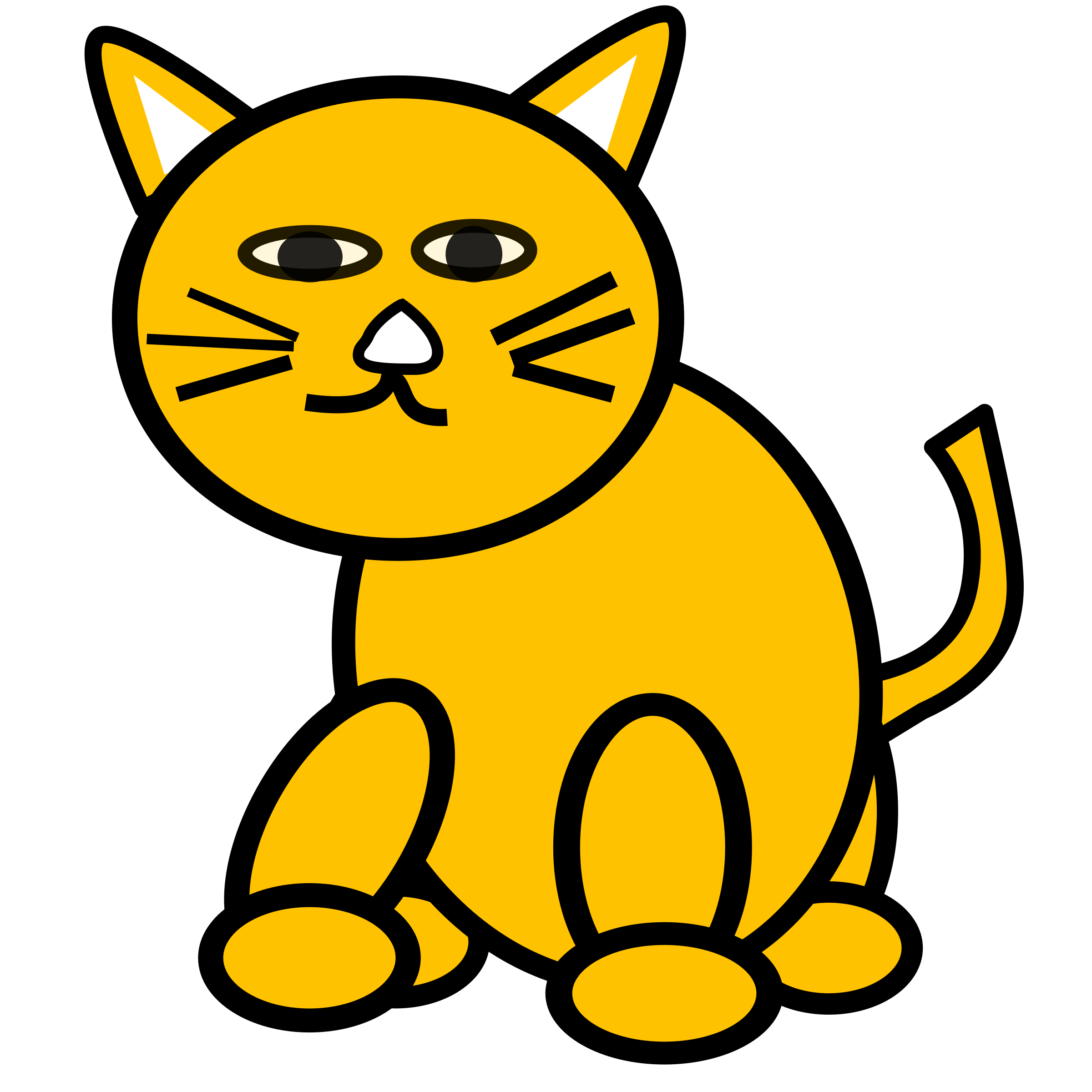 Clipart of fat cat graphic freeuse library Cat litter clipart graphic freeuse library