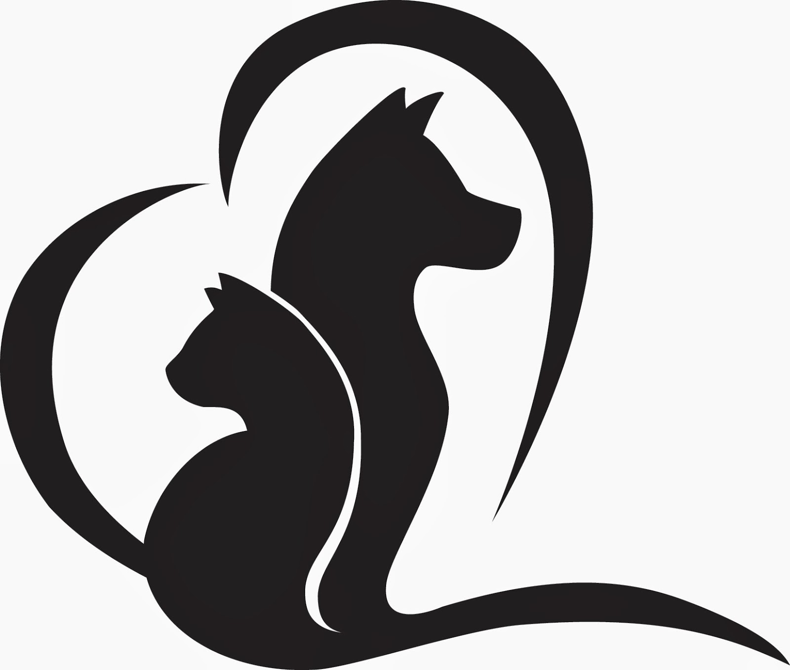 Cat logo clipart clip art black and white download Dog And Cat Clipart Black And White | Free download best Dog And Cat ... clip art black and white download