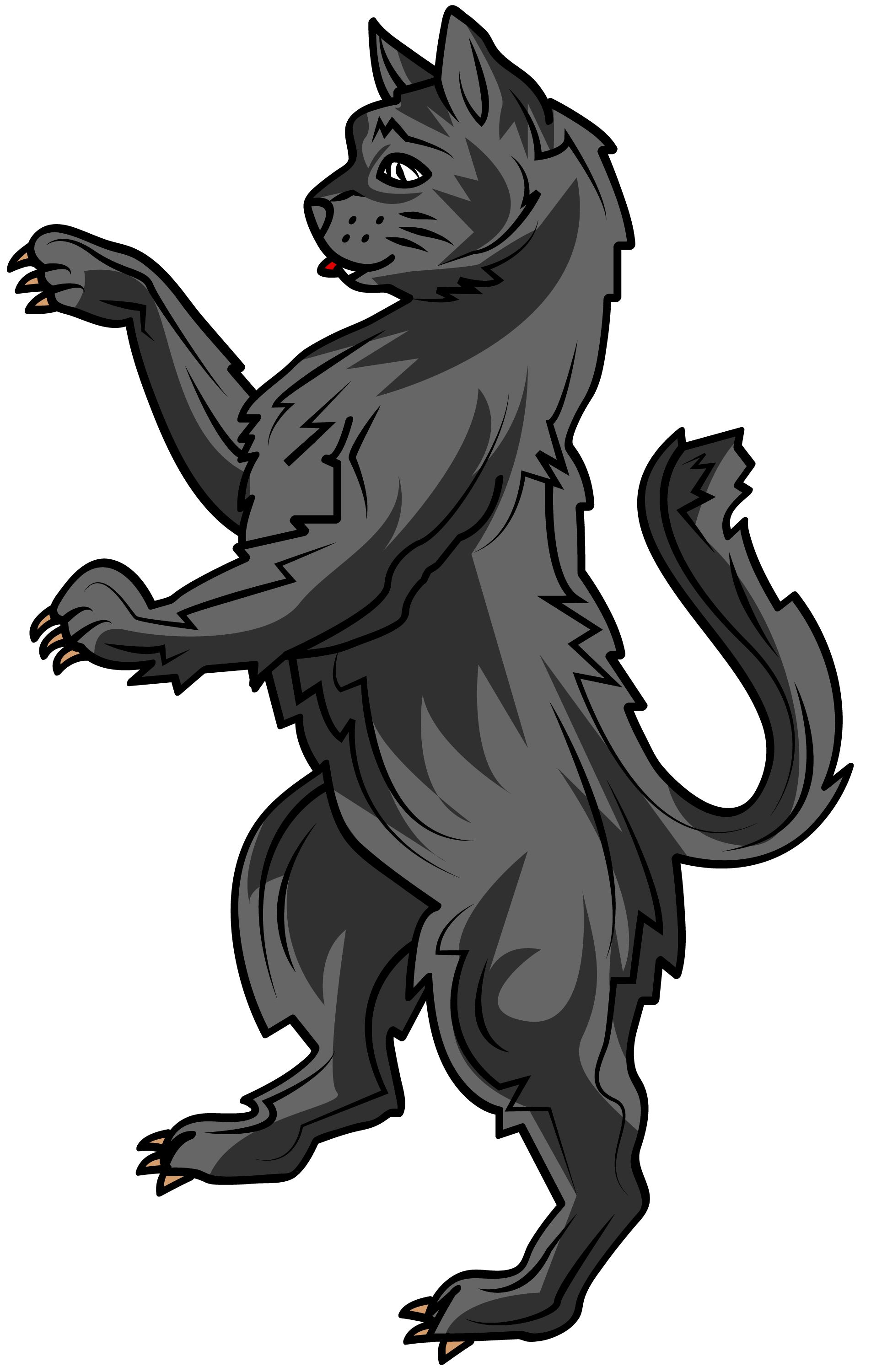 Seated cat clipart clip art download the cat in heraldry is a symbol of liberty, watchfulness, vigilance ... clip art download
